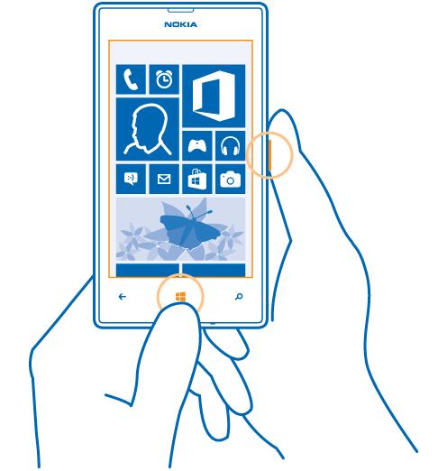 Thao tác chụp ảnh màn hình Windows Phone từ bản 8.1
