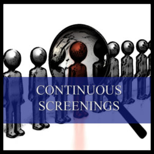 Continuous screening polygraph examinations in Johannesburg, Pretoria, Centurion, Midrand, Gauteng, South Africa and Africa