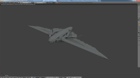 I moved the camera in the scene. Notice the graininess of the plane that is cycles rendering as I am moving.