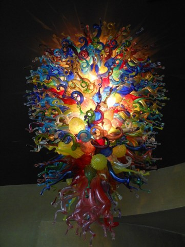 Blown Glass Chandelier