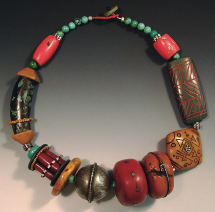 Victoria Hughes, Imitative Sampler Necklace, 1992-2007