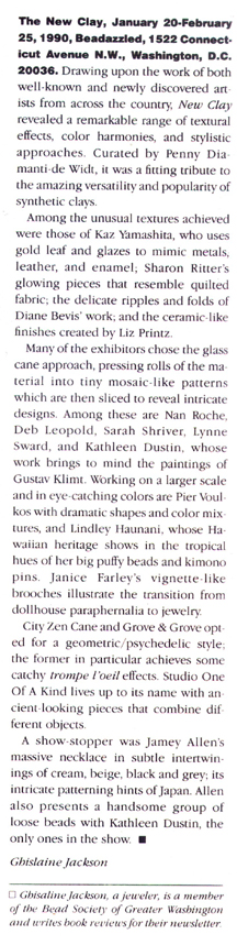 Ornament, 1990, Beadazzled show review