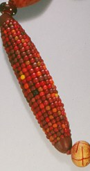 Cynthia Toops, Red Sampler necklae, detail, 1998