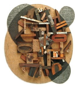 Steven Ford & David Forlano, Figure, 2003 wall sculpture with 2 brooches