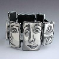 Judy Belcher, Faces Bracelet, 2007, polymer