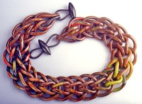 Nan Roche, Autumn Loop in Loop Necklace