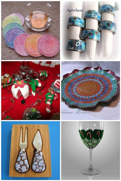 tableware and decorations from polymer clay artists