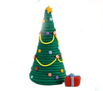 Polymer Clay Christmas Tree Decorations.Tutorial Christmas Tree Decoration Polymer Clay