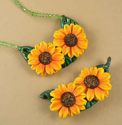 sunflower-brooch