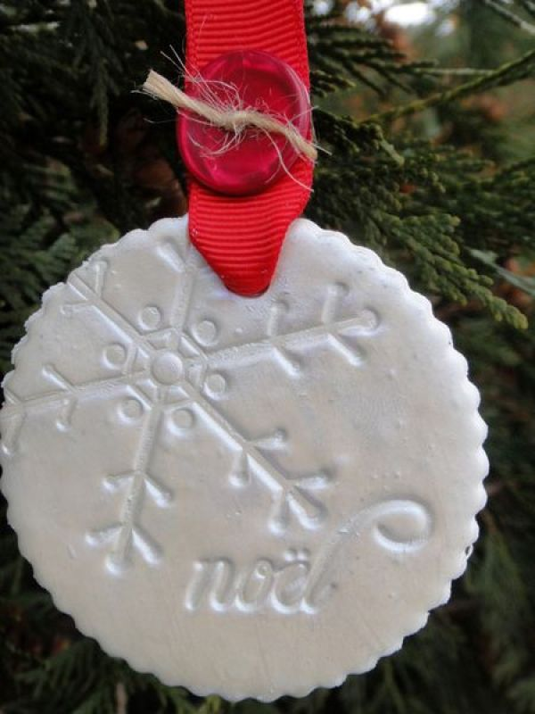 Christmas ornaments made from polymer clay