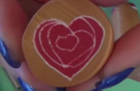 Doodle Heart Cane