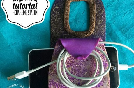 Polymer Clay Phone Charger Pocket