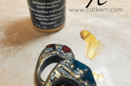 Resin and Polymer Clay Ring