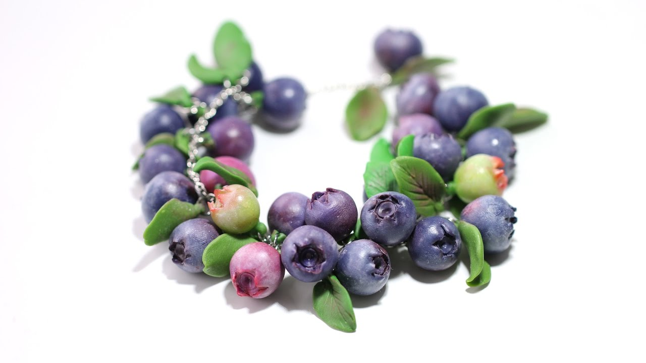Polymer Clay Blueberry Bracelet