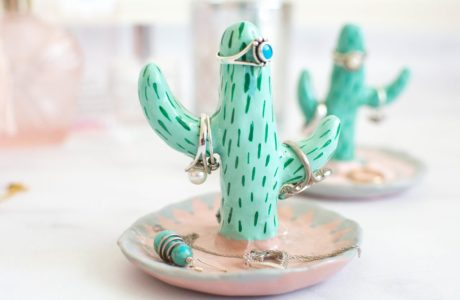 Clay Cactus Ring Holder