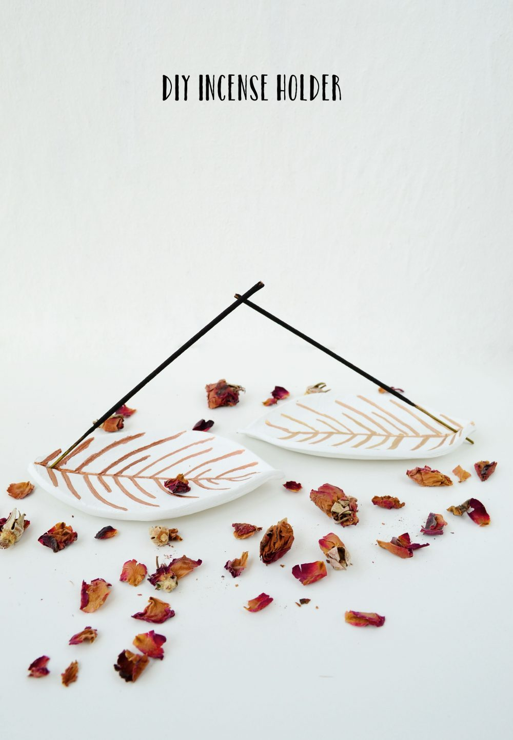 Polymer Clay Leaf Incense Holders