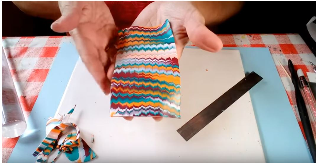 Combed Veneers in Polymer Clay