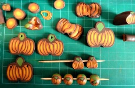 Polymer Clay Pumpkin Cane