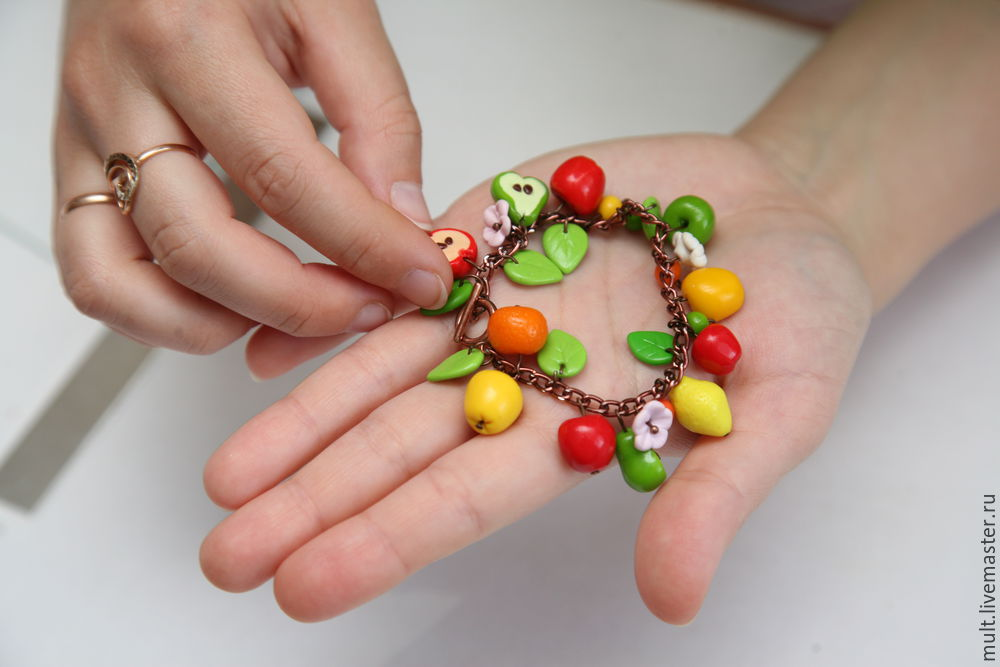 Polymer Clay Fruit for Your Wrist