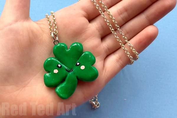 Polymer Clay Shamrocks