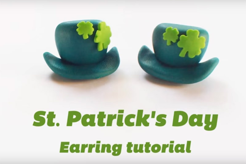 Polymer St Patrick's Day Earrings
