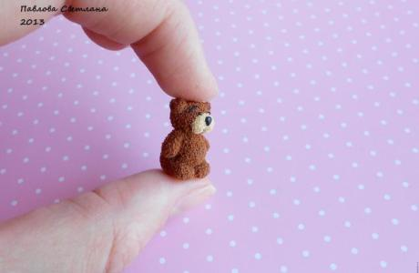 Tiny Teddy Bears in Polymer Clay