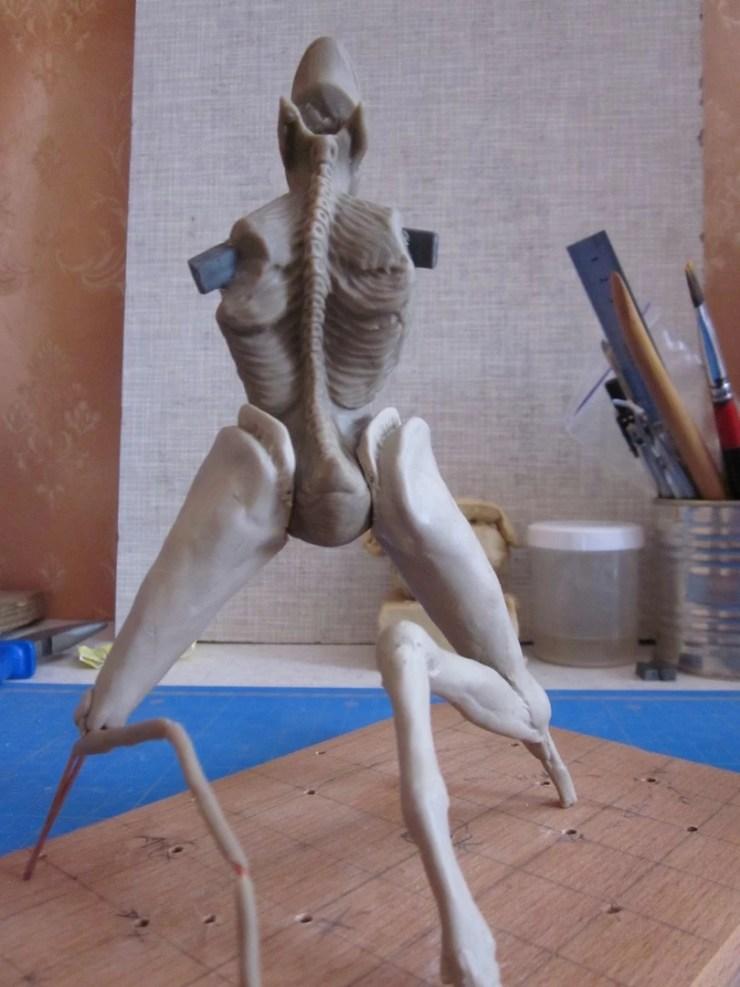1 Polymer clay figurine monster
