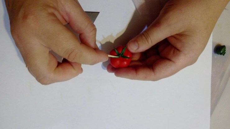 12 Polymer clay tomato. Photo tutorial on polymer clay food