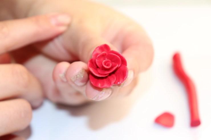 12 polymer clay flower rose. Photo tutorial