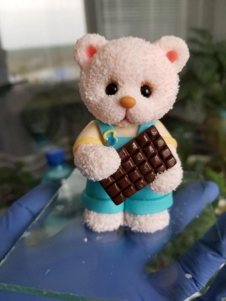 12a Teddy Bear made of polymer clay. Photo Tutorial