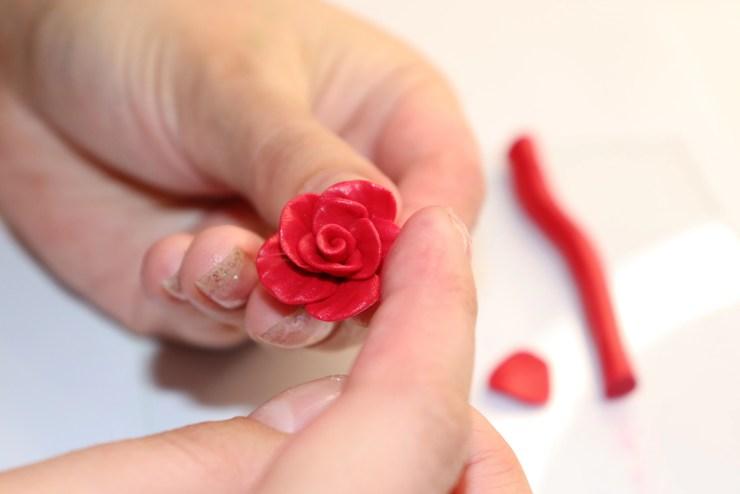 13 polymer clay flower rose. Photo tutorial