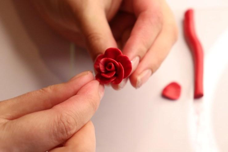 14 polymer clay flower rose. Photo tutorial