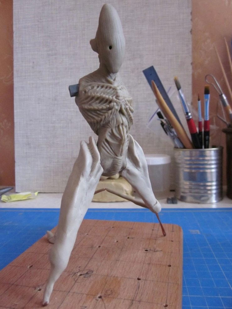 2 Polymer clay figurine monster