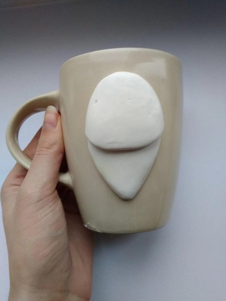 2 Polymer Clay Cup Decor idea: Husky Dog. Photo tutorial