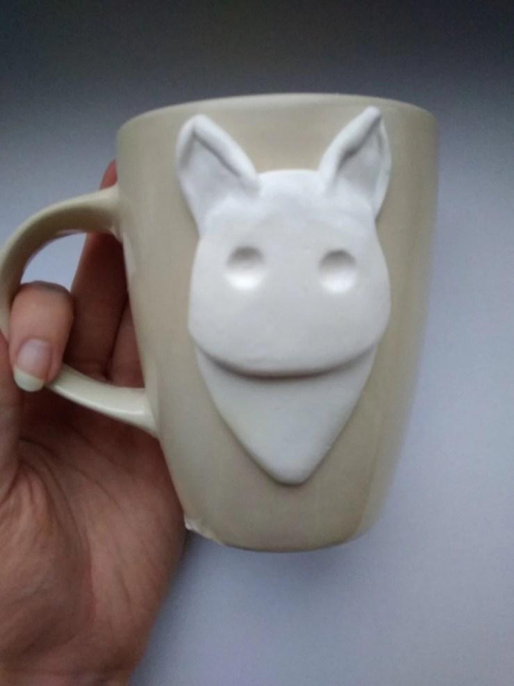 3 Polymer Clay Cup Decor idea: Husky Dog. Photo tutorial