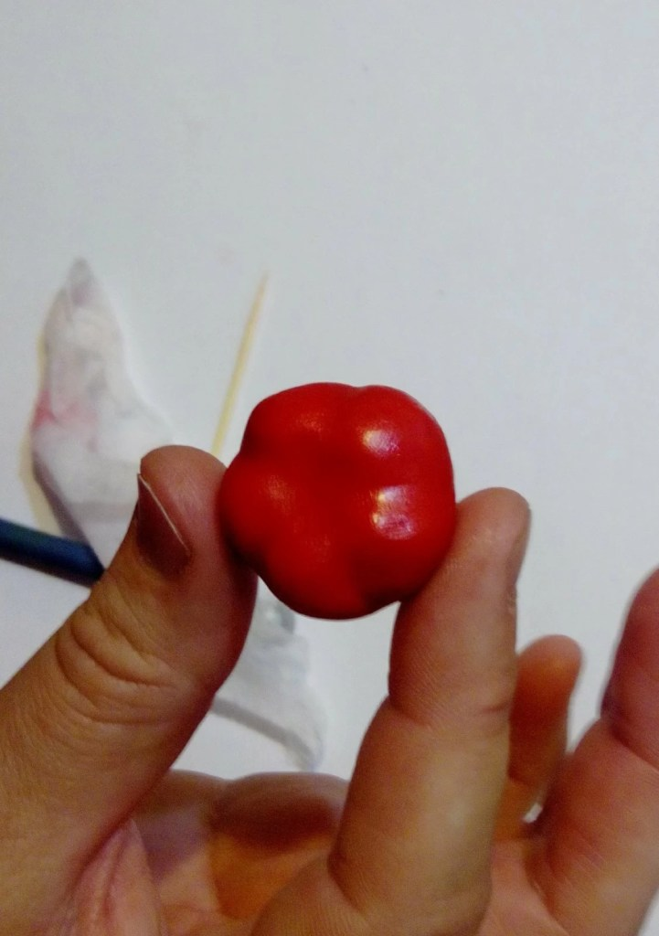 7 Polymer clay tomato. Photo tutorial on polymer clay food
