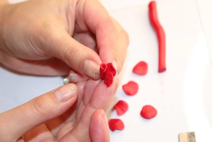9 polymer clay flower rose. Photo tutorial
