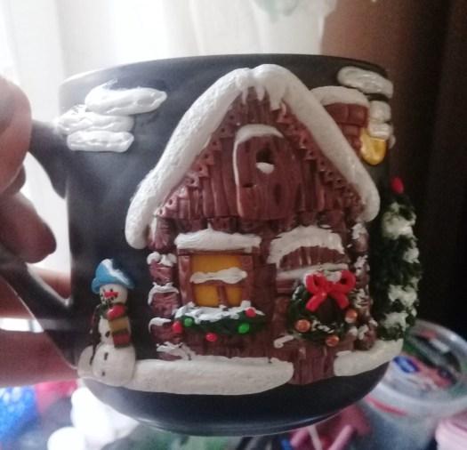 Decor polymer clay Christmas house