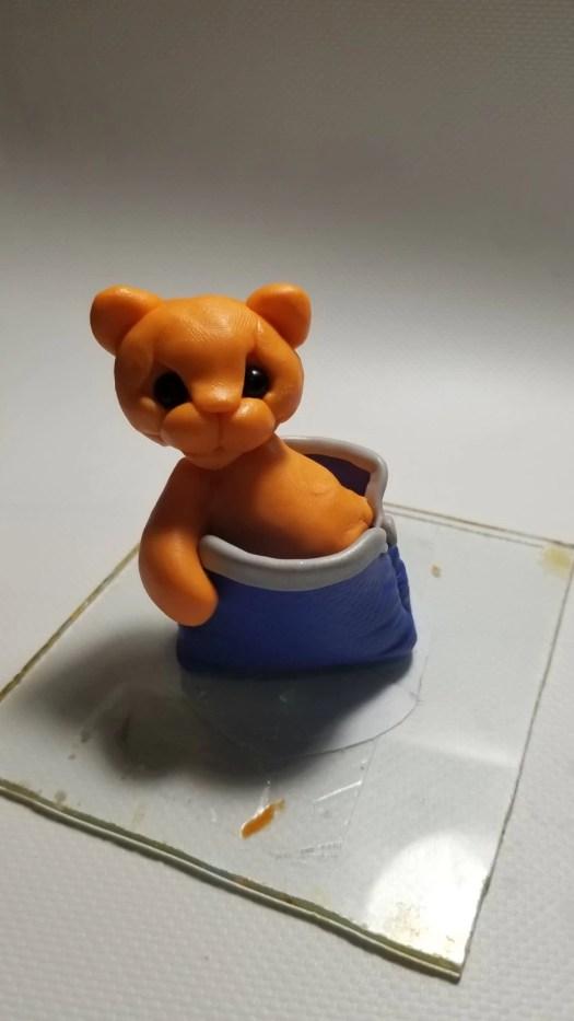 18 Polymer clay cute tiger cub