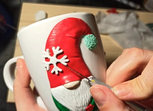 9b Polymer clay modeling lesson: Christmas decor