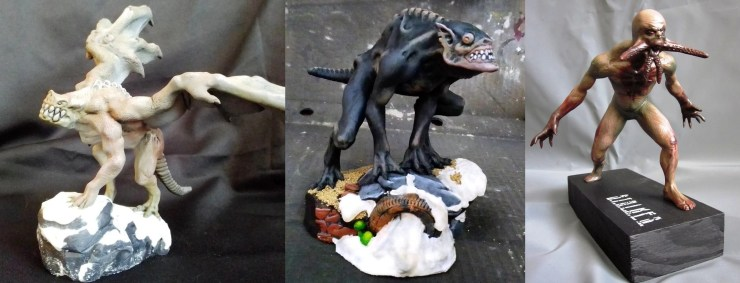 Super cool polymer clay monster figures