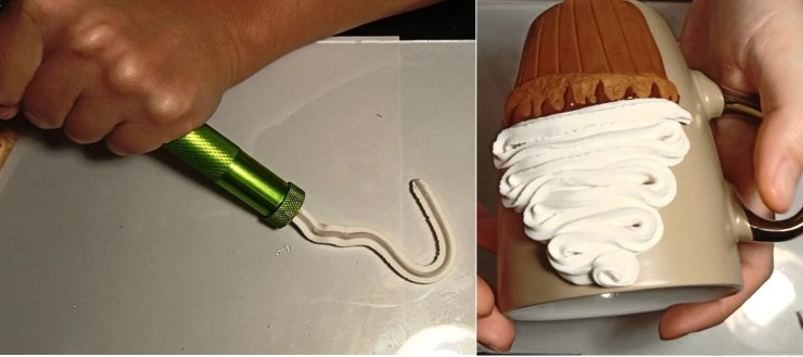 3. Polymer clay tutorial: Cupcake on a mug