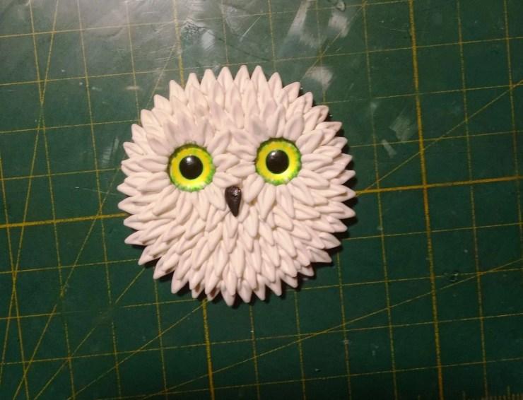"5 Polymer clay brooch ""Cute Owl"". A photo tutorial on modeling"
