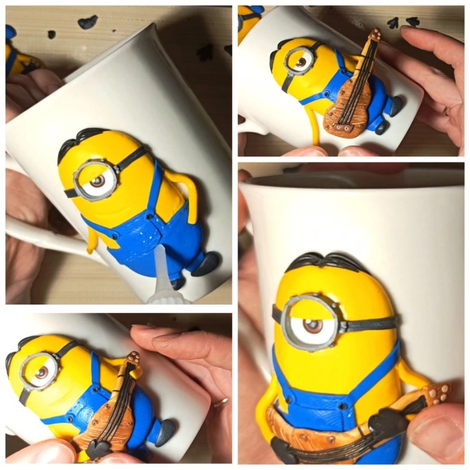 15 Polymer clay tutorial: Minion with a guitar