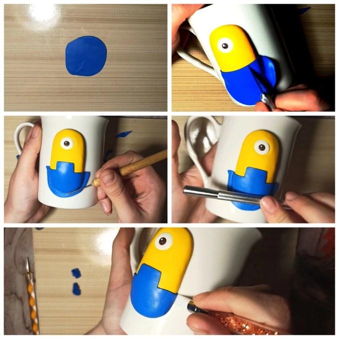 3 Polymer clay tutorial: Minion on a mug