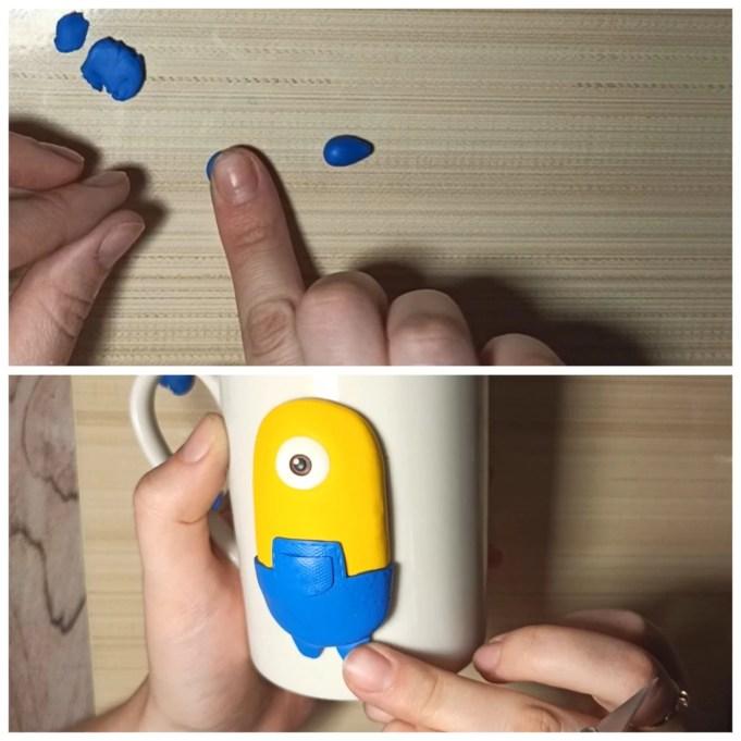 5 Polymer clay tutorial: Minion on a mug