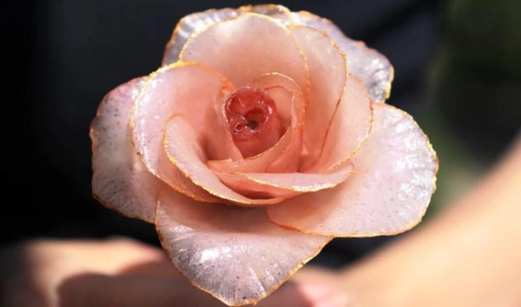 Polymer clay Rose flower