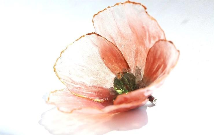 Polymer clay Poppy flower