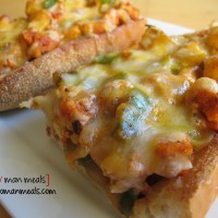 chicken fajita french bread pizza