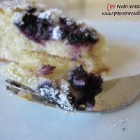 moist blueberry cake